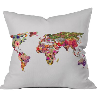 Bianca Green Its Your World Throw Pillow Size: 16 H x 16 W