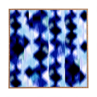 Denim Diamond Framed Graphic Art Size: 12