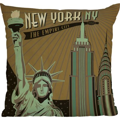 Anderson Design Group New York Indoor Throw Pillow Size: 16 x 16