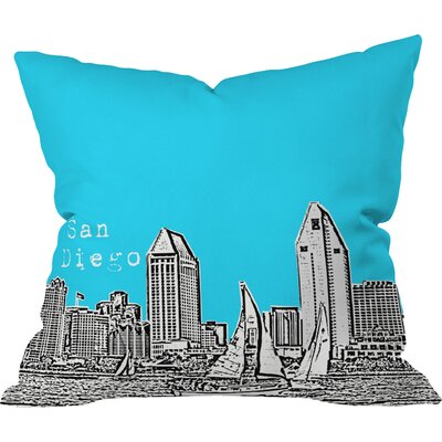 Bird Ave San Diego Indoor Throw Pillow Size: 16 x 16, Color: Sky