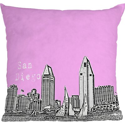 Bird Ave San Diego Indoor Throw Pillow Size: 16 x 16, Color: Pink