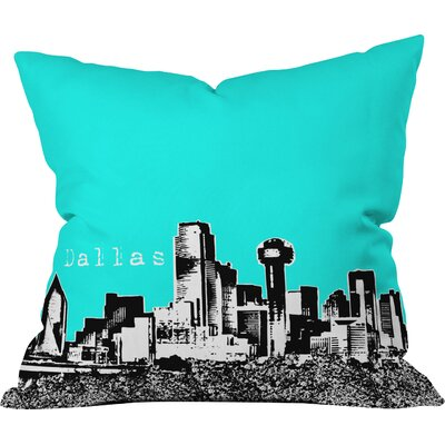 Bird Ave Dallas Indoor Throw Pillow Color: Aqua, Size: 16 x 16