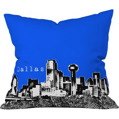 Bird Ave Dallas Indoor Throw Pillow Size: 18 x 18, Color: Royal