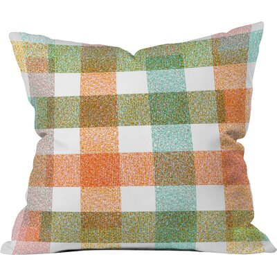Zoe Wodarz Pastel Plaid Indoor Throw Pillow Size: Extra Large