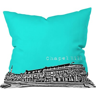 Bird Ave Chapel Hill Indoor Throw Pillow Size: 16 x 16, Color: Aqua