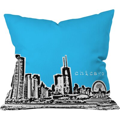 Bird Ave Chicago Indoor Throw Pillow Size: 18 x 18