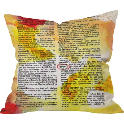 Susanne Kasielke Pretty Dictionary Art Indoor Throw Pillow Size: Medium