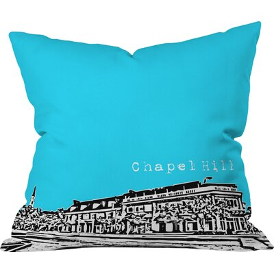 Bird Ave Chapel Hill Indoor Throw Pillow Size: 16 x 16, Color: Blue