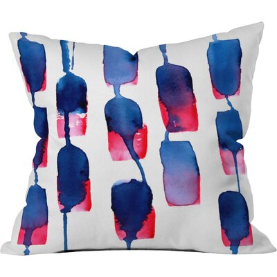 CMYKaren Color Run Throw Pillow Size: Small