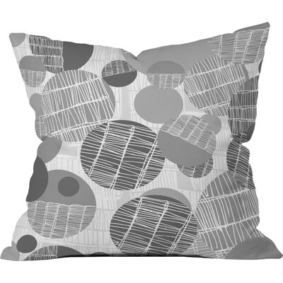 Rachael Taylor Textured Geo Throw Pillow Size: 16 x 16, Color: Gray