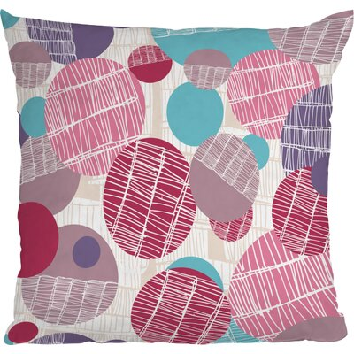 Rachael Taylor Textured Geo Throw Pillow Size: 16 x 16, Color: Pink