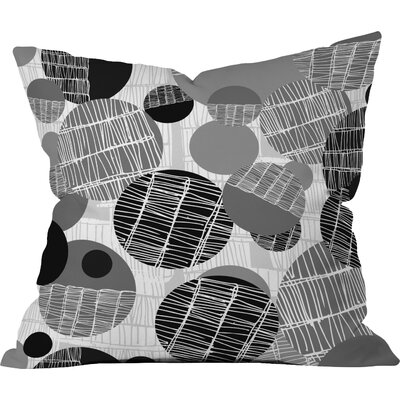 Rachael Taylor Textured Geo Throw Pillow Size: 16 x 16, Color: Black