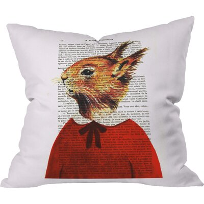 Coco De Paris Little Squirrel Indoor Throw Pillow Size: Small