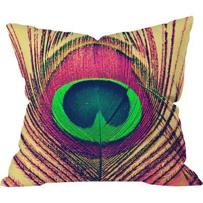 Shannon Clark Peacock 2 Indoor Throw Pillow Size: Large