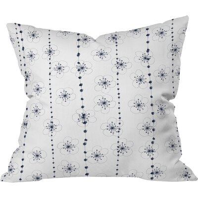 Ali Benyon Flower Waterfall Indoor Throw Pillow Size: Medium