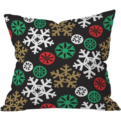 Zoe Wodarz Cozy Cabin Snowflakes Throw Pillow Size: Small