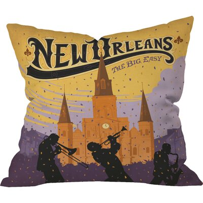 Anderson Design Group New Orleans Indoor Throw Pillow Size: 18 x 18