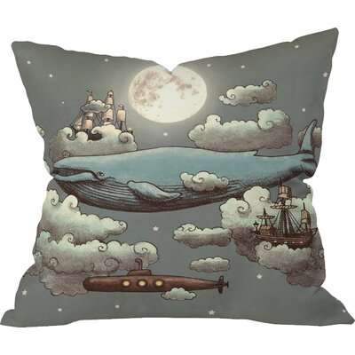 Terry Fan Ocean Meets Sky Indoor/Outdoor Throw Pillow Size: Extra Large