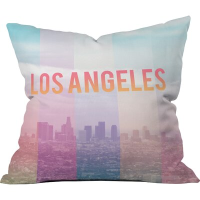 Catherine Mcdonald Los Angeles Indoor/outdoor Throw Pillow Size: Small