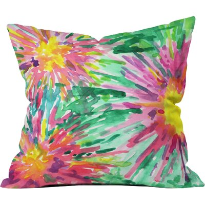 Joy Laforme Floral Confetti Throw Pillow Size: Small