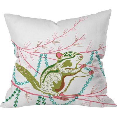 Betsy Olmsted Holiday Chipmunk Throw Pillow Size: Medium
