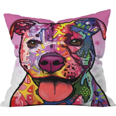 Dean Russo Cherish The Pitbull Throw Pillow Size: Small