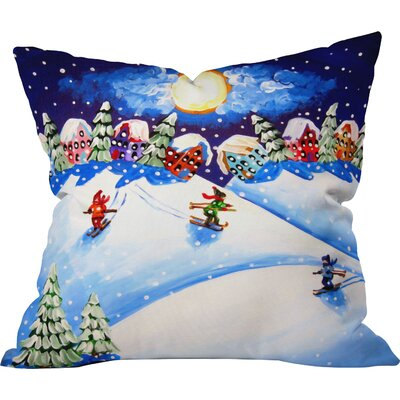 Renie Britenbucher Skiers Throw Pillow Size: Extra Large
