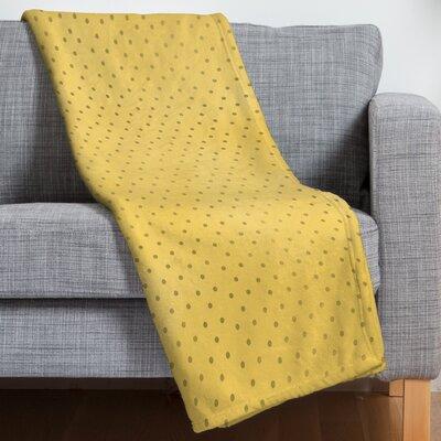 Allyson Johnson Sunny Yellow Dots Fleece Throw Blanket