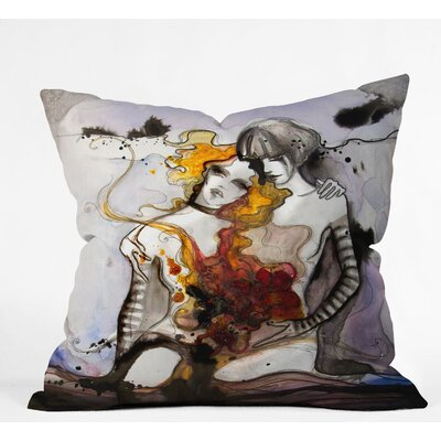 Deniz Ercelebi Twins Outdoor Throw Pillow Size: 16 H x 16 W x 4 D