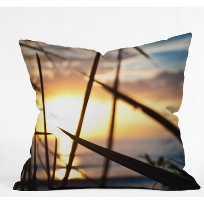 Bird Wanna Whistle Beach Sunset Outdoor Throw Pillow Size: 26 H x 26 W x 7 D