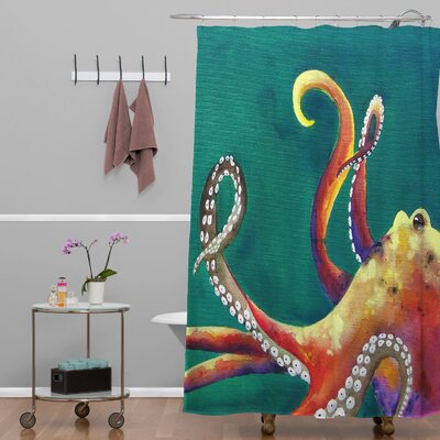 Clara Nilles Mardi Gras Octopus Extra Long Shower Curtain