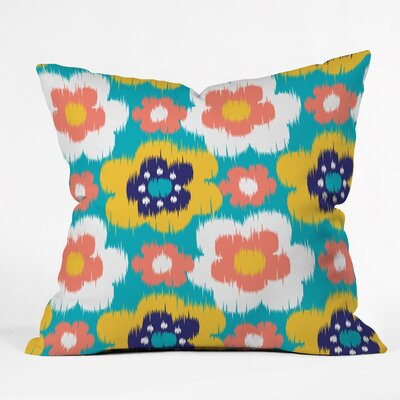 Steven Scott Big Ikat Flowers Outdoor Throw Pillow Size: 16 H x 16 W x 4 D