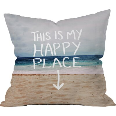Leah Flores Happy Place X Beach Throw Pillow Size: Large