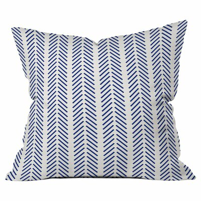 Nautical Lines Throw Pillow Size: 18 H x 18 W