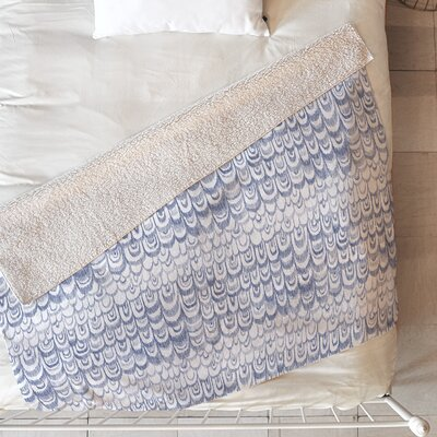 Feather Texture Blanket Size: 60 L x 50 W
