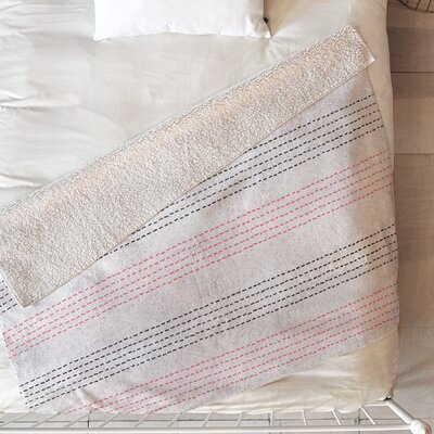 French Linen Geo Stripe Blanket Size: 60 L x 50 W