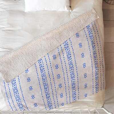French Linen Boho Stripe Blanket Size: 80 L x 60 W