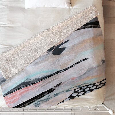 Rolling Abstract Blanket Size: 60 L x 50 W