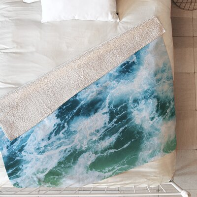 Swirling Sea Blanket Size: 80 L x 60 W