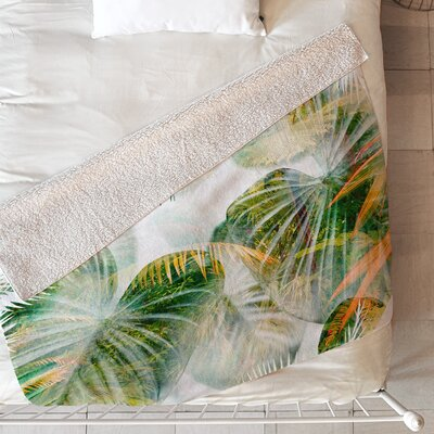 Tropical Lush Blanket Size: 80 L x 60 W