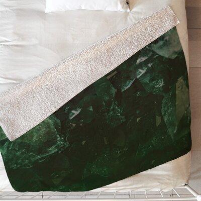 Leah Flores Emerald Gem Blanket Size: 60 L x 50 W