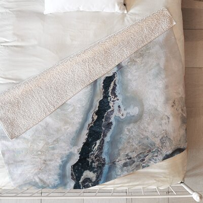 Ice Crystals Blanket Size: 60 L x 50 W