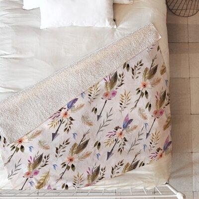 Bohemian Pattern Blanket Size: 80 L x 60 W