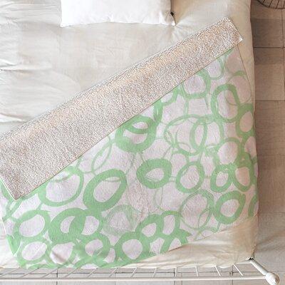Circle Sage Blanket Size: 60 L x 50 W