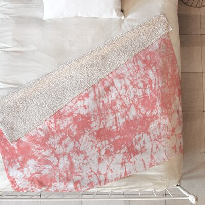 Crackle Batik Blanket Size: 80 L x 60 W, Color: Pink