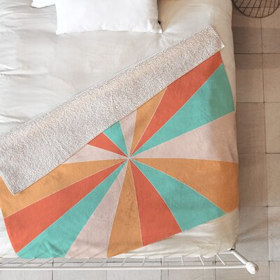 Papaya Burst Blanket Size: 60 L x 50 W