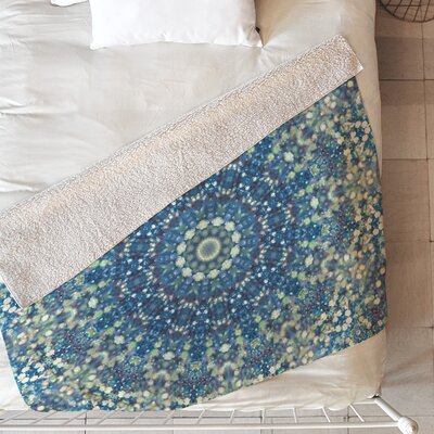 Her Mermaid Sea Kaleido Blanket Size: 60 L x 50 W