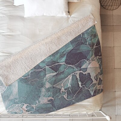 Emanuela Carratoni Geometric Marble Blanket Size: 60 L x 50 W