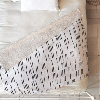 Bogo Mudcloth Blanket Size: 80 L x 60 W, Color: White
