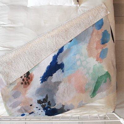 Laura Fedorowicz Seasons Abstract Blanket Size: 80 L x 60 W